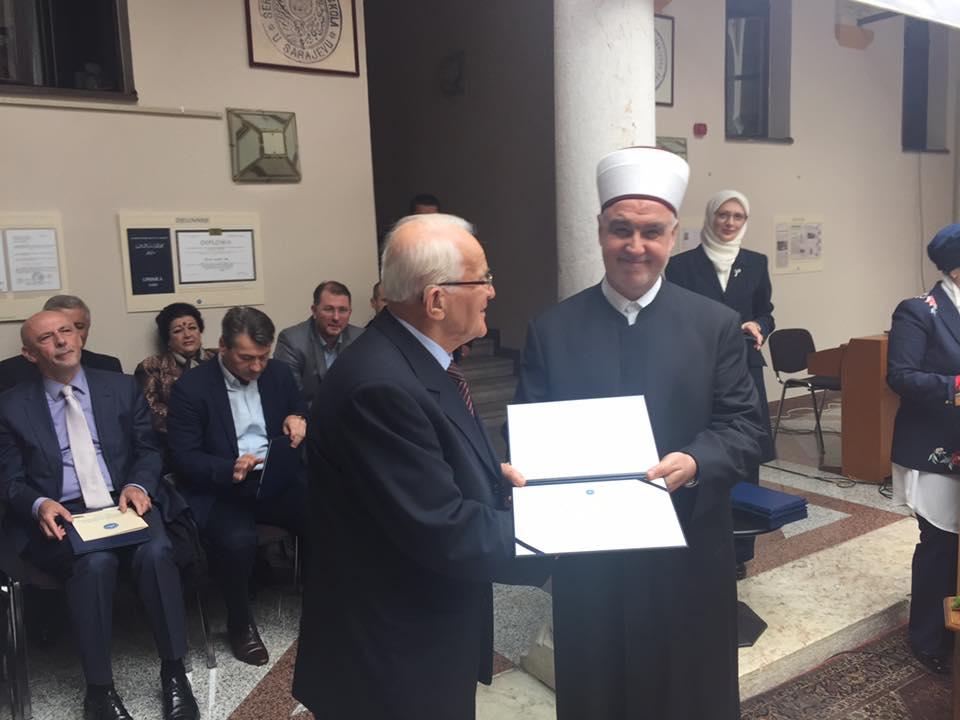 Džemal Ef. Salihspahić Dobitnik Priznanja FIN-a U Sarajevu