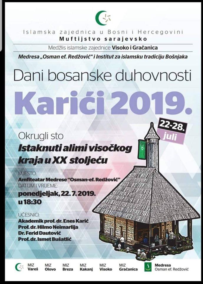 "Dani Bosanske Duhovnosti ""Karići 2019."""
